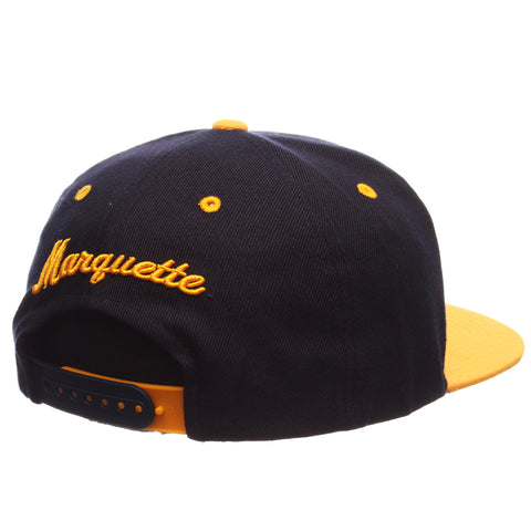 Marquette University Z11 32/5 (High) (MU) Navy Dark Zwool Adjustable hats by Zephyr