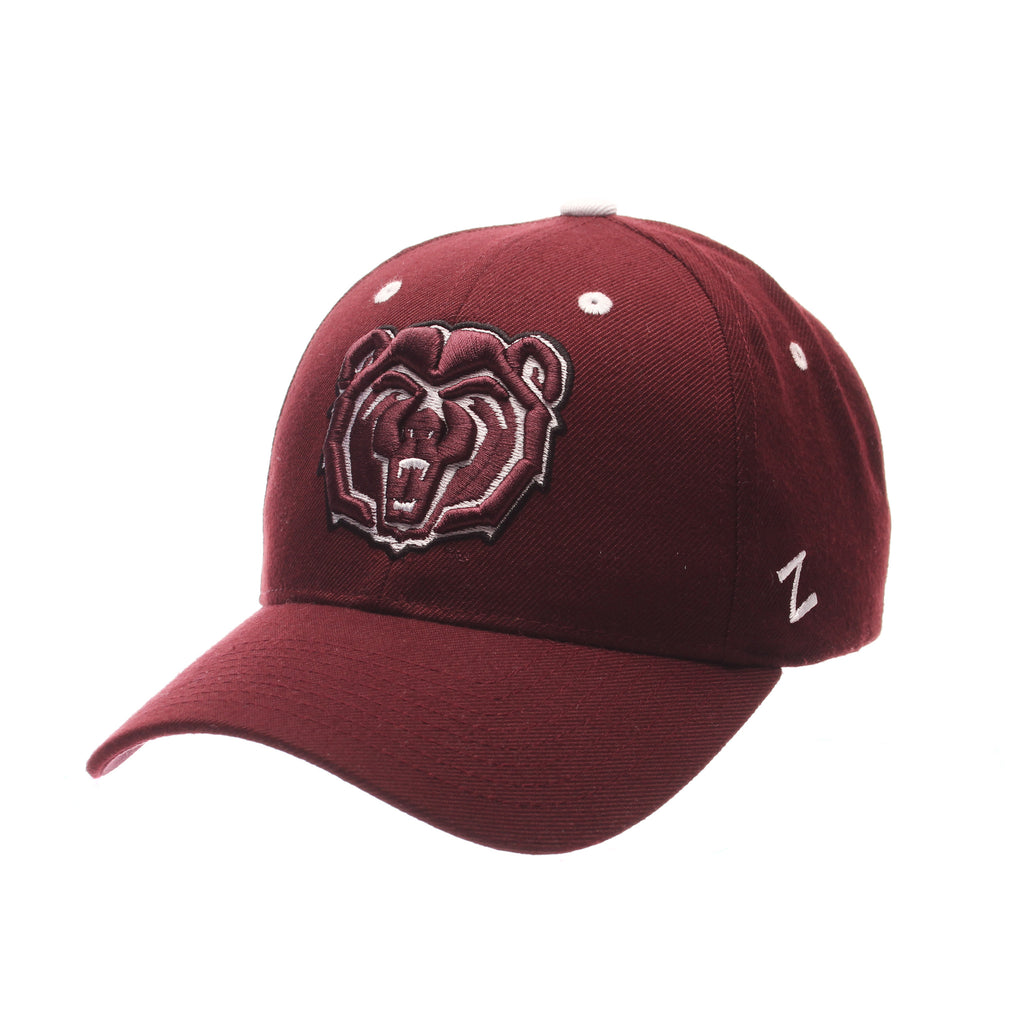 Missouri State University Competitor Standard (Low) (BEAR) Maroon Zwool Adjustable hats by Zephyr