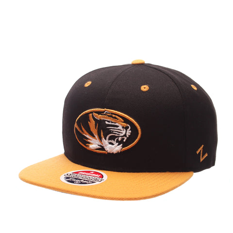 Missouri (Columbia) Z11 32/5 (High) (TIGER OVAL) Black Zwool Adjustable hats by Zephyr