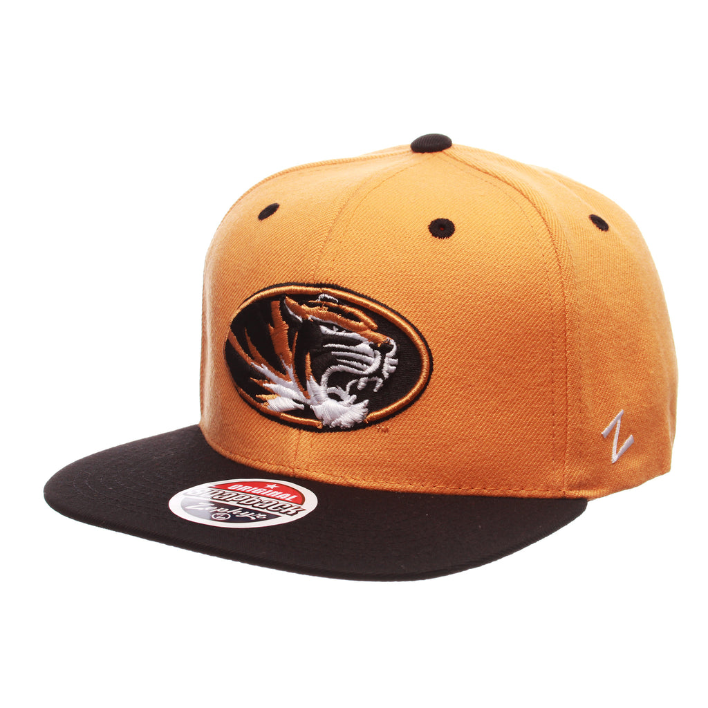 Missouri (Columbia) Z11 32/5 (High) (TIGER OVAL) Gold Burnt (MO) Zwool Adjustable hats by Zephyr
