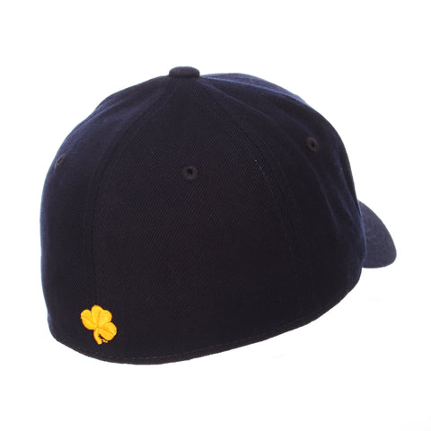 Notre Dame DH Standard (Low) (ND) Navy Dark Zwool Fitted hats by Zephyr