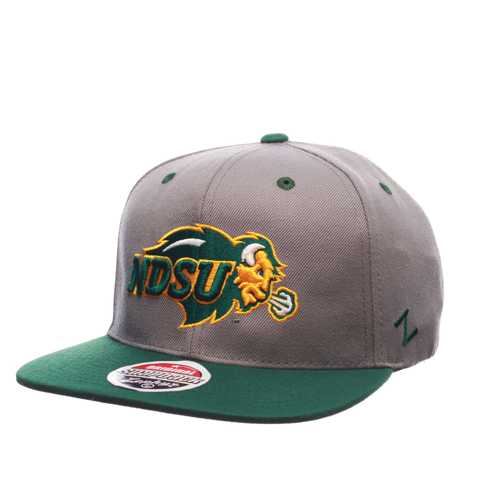 North Dakota State University Z11 32/5 (High) (BISON W/NDSU) Gray Medium Zwool Adjustable hats by Zephyr