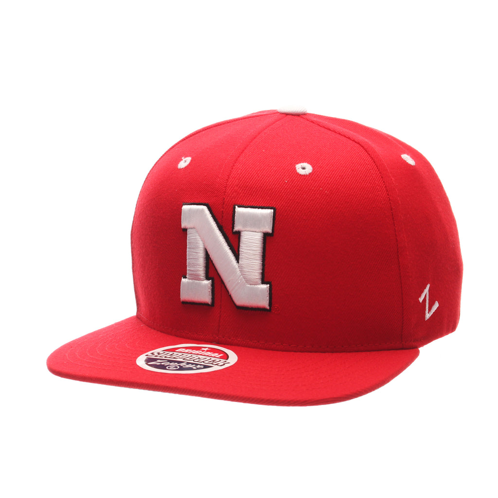 Nebraska (Lincoln) Z11 32/5 (High) (N) Scarlet Zwool Adjustable hats by Zephyr