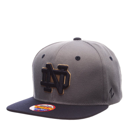 Notre Dame Z11 Slate Youth 32/5 Youth (ND) Gray Medium Zwool Adjustable hats by Zephyr