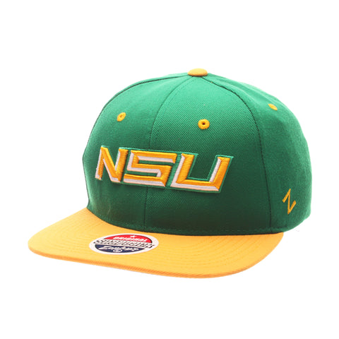 Norfolk State University Z11 32/5 (High) (NSU) Green Kelly Zwool Adjustable hats by Zephyr