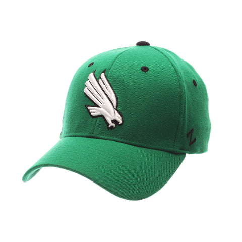 North Texas ZHS Standard (Low) (EAGLE) Green Kelly Zwool Stretch Fit hats by Zephyr