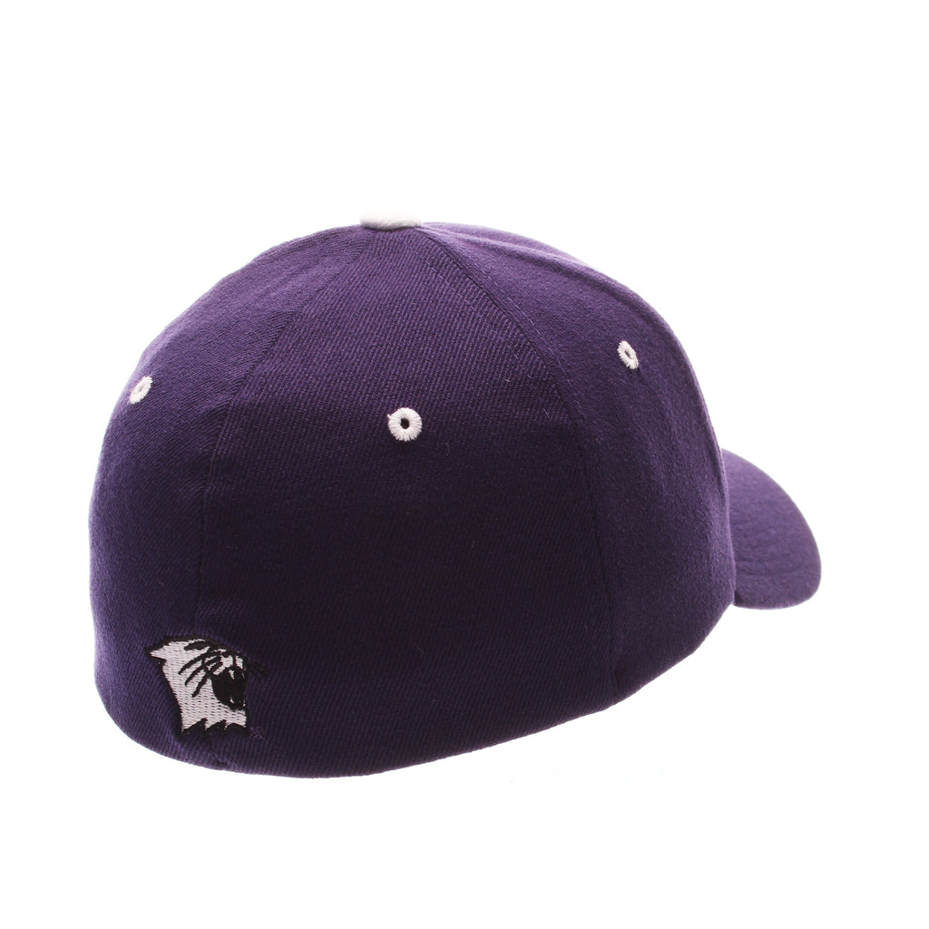 Northwestern University ZH Standard (Low) (N) Purple Dark Zwool Stretch Fit hats by Zephyr