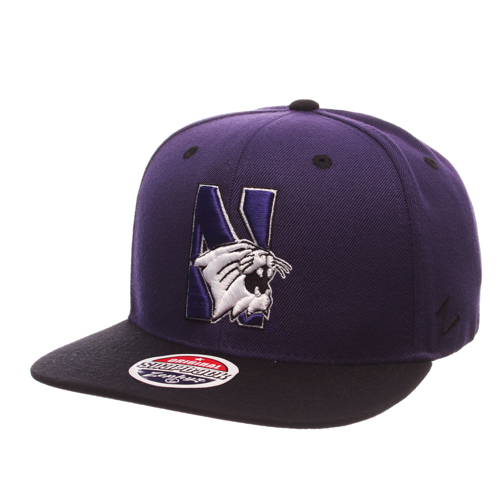 Northwestern University Z11 32/5 (High) (N W/CAT) Purple Dark Zwool Adjustable hats by Zephyr