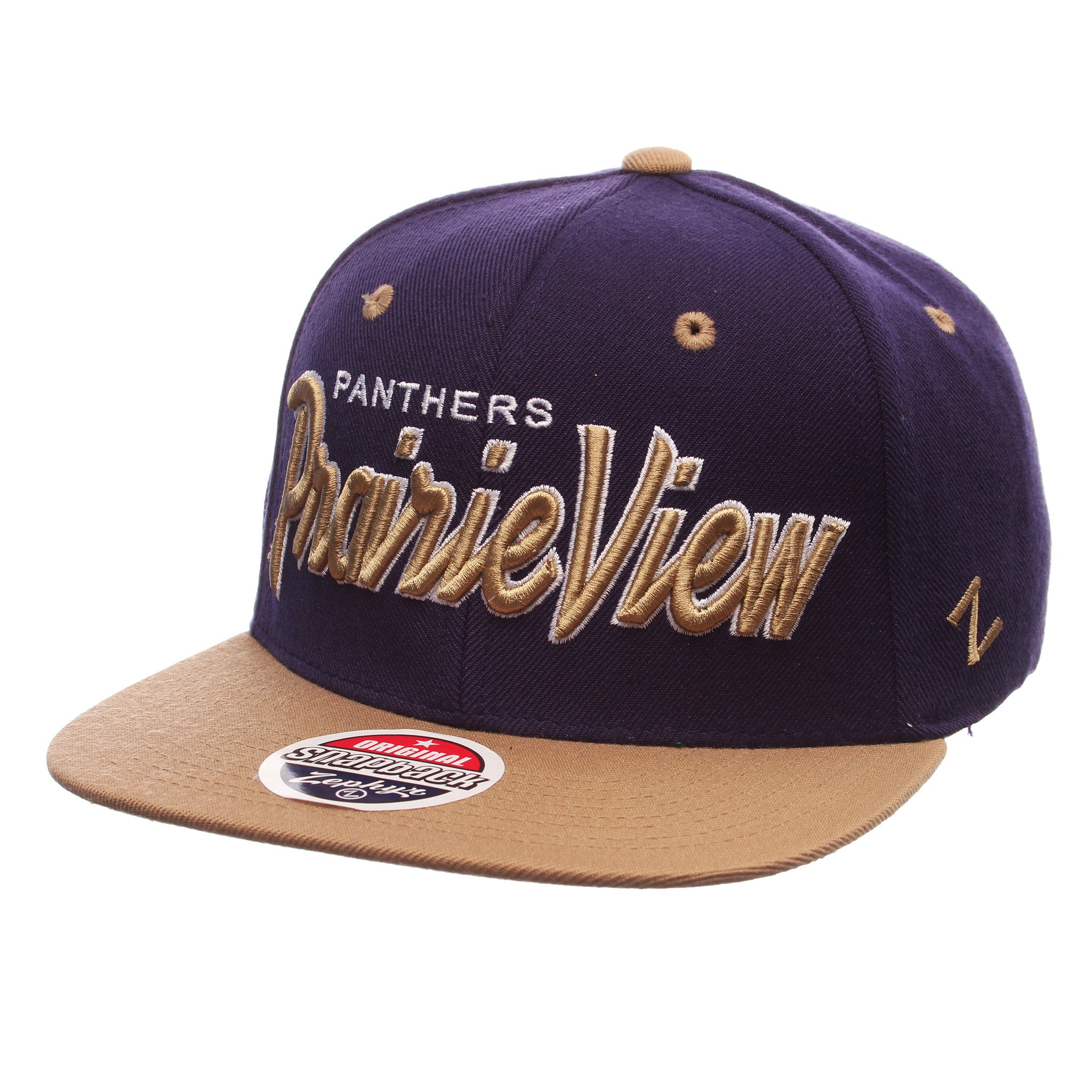 Prairie View A&M University Headliner 32/5 (High) (PANTHERS/PRAIRIE VIEW) Purple Dark Zwool Adjustable Snapback hats by Zephyr