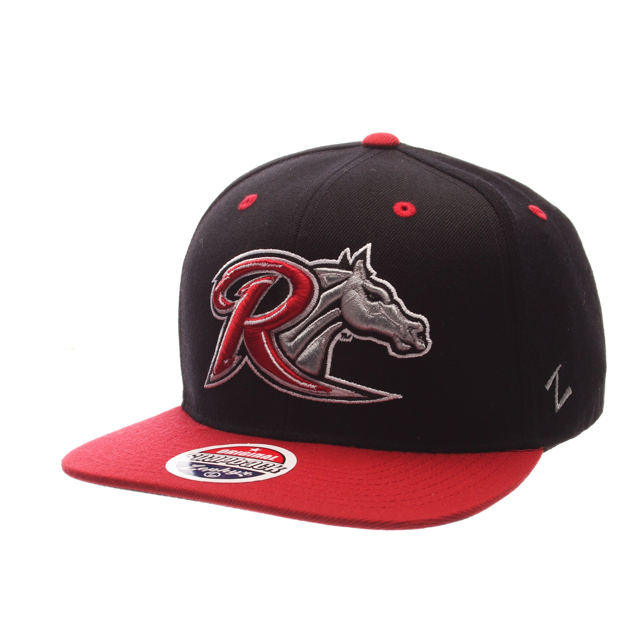 Rider University Z11 32/5 (High) (R W/HORSE HEAD) Black Zwool Adjustable hats by Zephyr