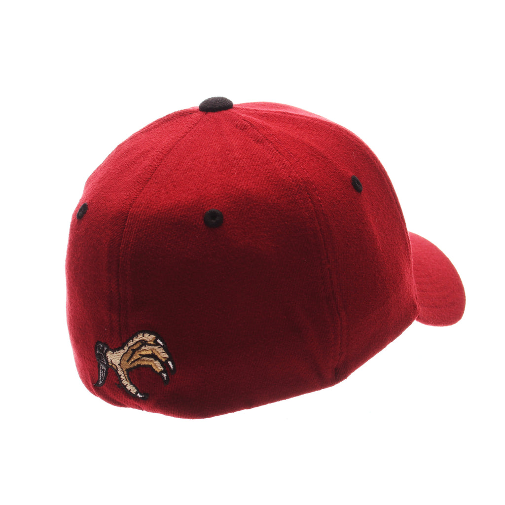 South Carolina ZH Standard (Low) (C W/GAMECOCK) Cardinal Zwool Stretch Fit hats by Zephyr