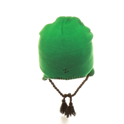 Slippery Rock University Bail Out Knit (Tall) (LION) Green Kelly Knit Adjustable hats by Zephyr