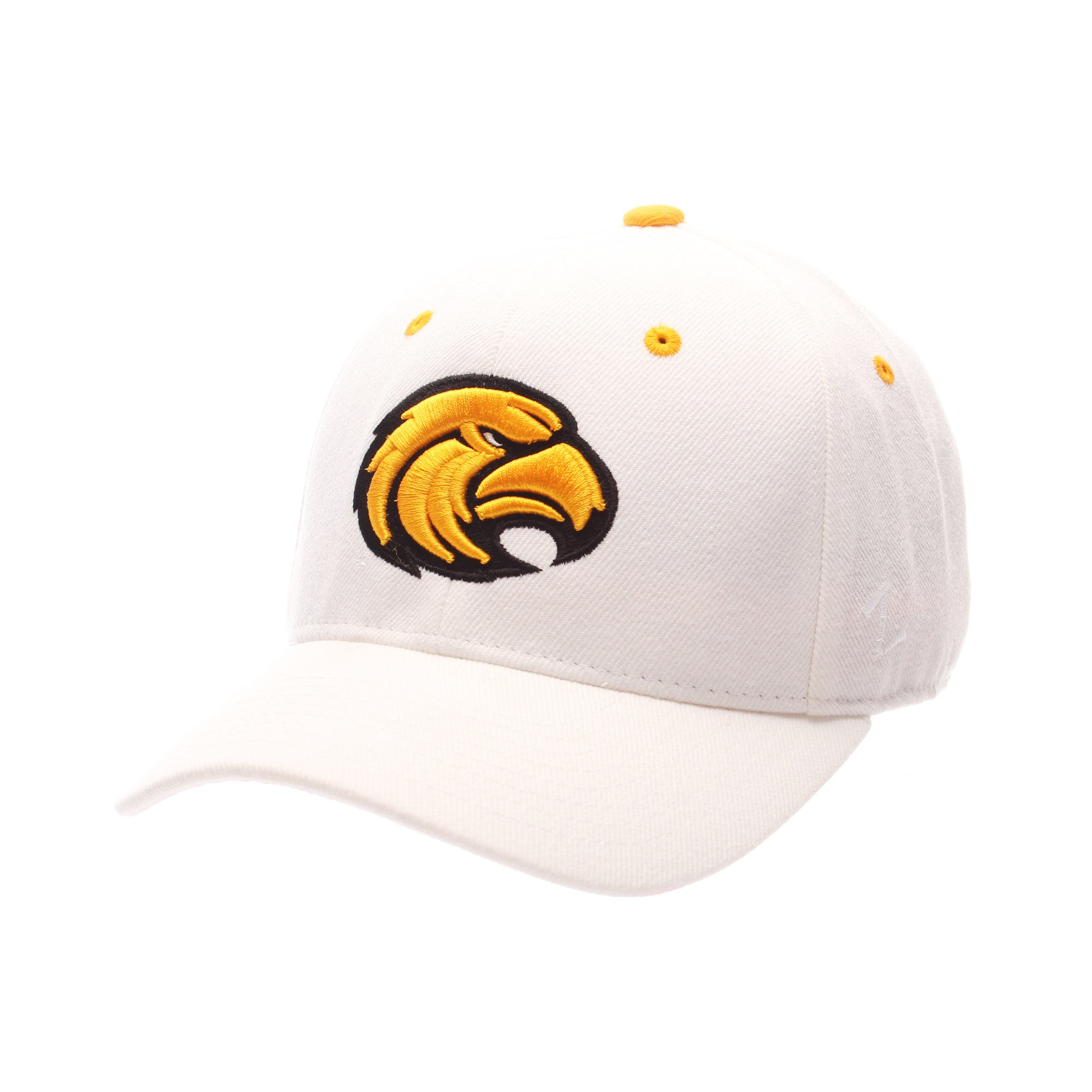 Southern Mississippi DHS (EAGLE HEAD) White Zwool Fitted hats by Zephyr