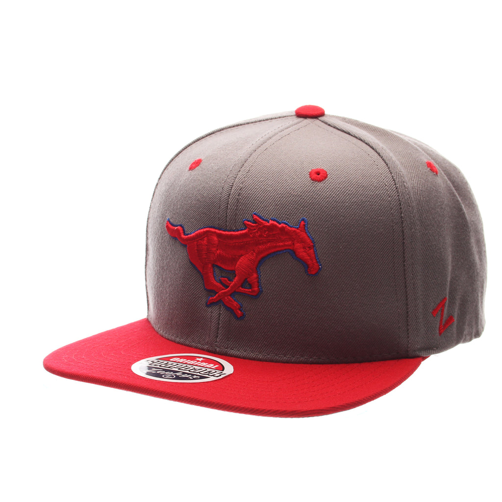 Southern Methodist University Z11 32/5 (High) (MUSTANG) Gray Medium Zwool Adjustable hats by Zephyr