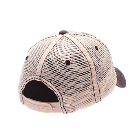 Dad Hat Standard (Low) (SNOWMAN) Gray Confederate Washed Adjustable hats by Zephyr