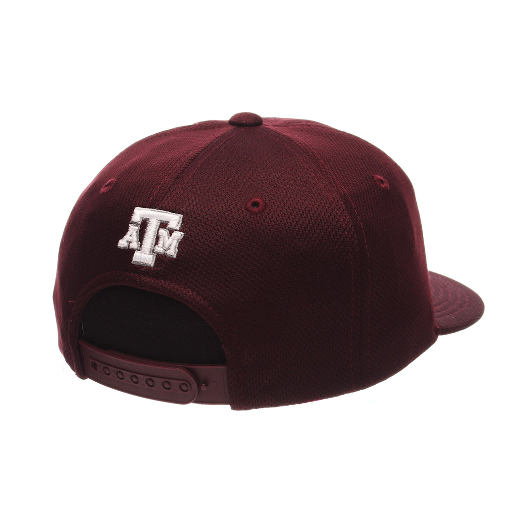 Texas A&M University Custom Mid (Medium) (ATM) Maroon Vapor Tech Adjustable hats by Zephyr