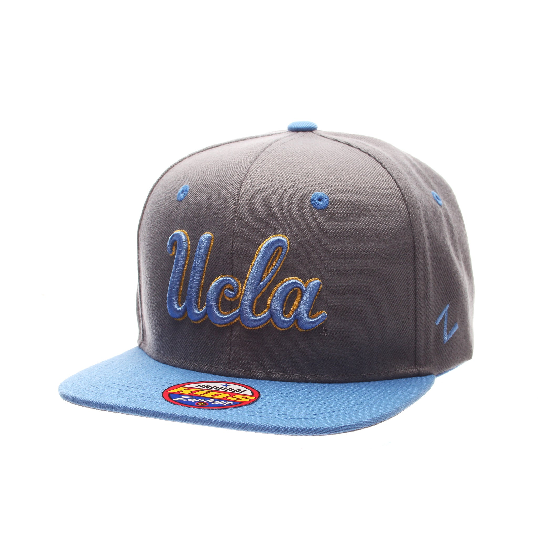 California (Los Angeles) Z11 Slate Youth 32/5 Youth (UCLA) Gray Medium Zwool Adjustable hats by Zephyr