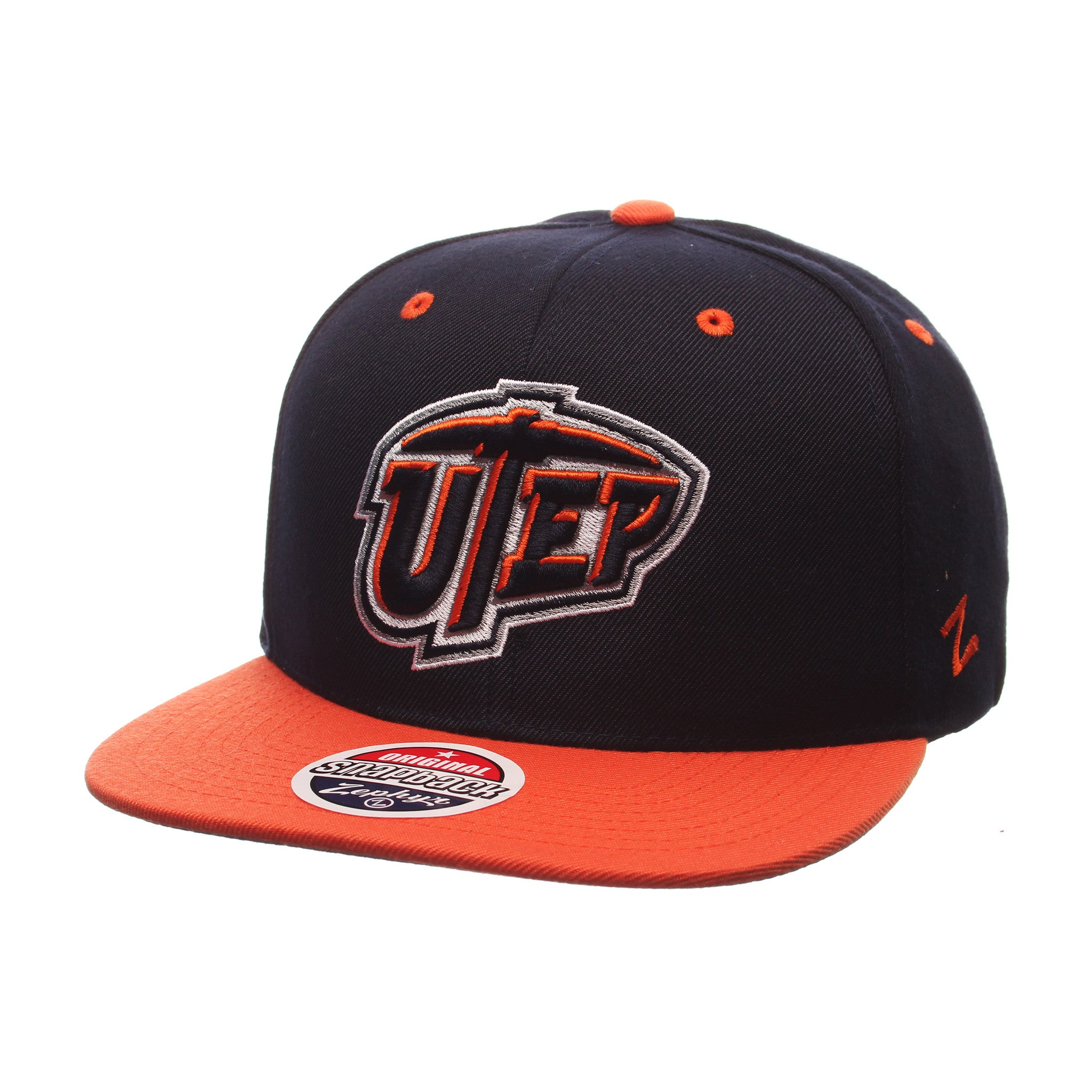 Texas (El Paso) Z11 32/5 (High) (UTEP) Navy Dark Zwool Adjustable hats by Zephyr