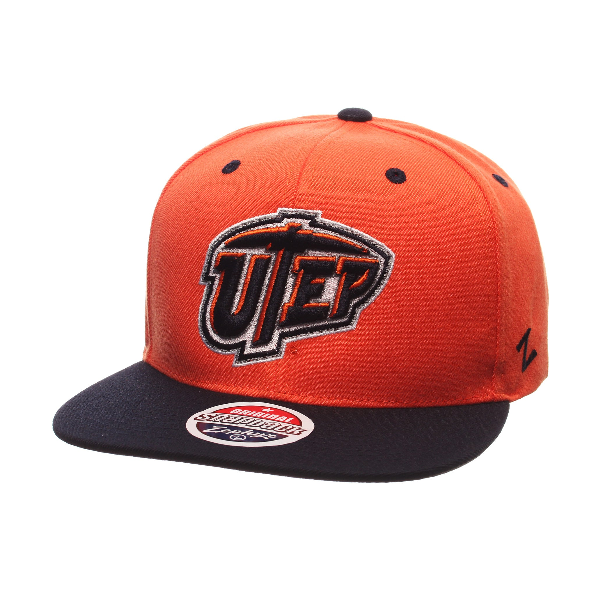 Texas (El Paso) Z11 32/5 (High) (UTEP) Orange Zwool Adjustable hats by Zephyr