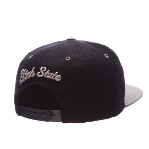 Utah State University Z11 32/5 (High) (U W/STATE) Navy Dark Zwool Adjustable hats by Zephyr