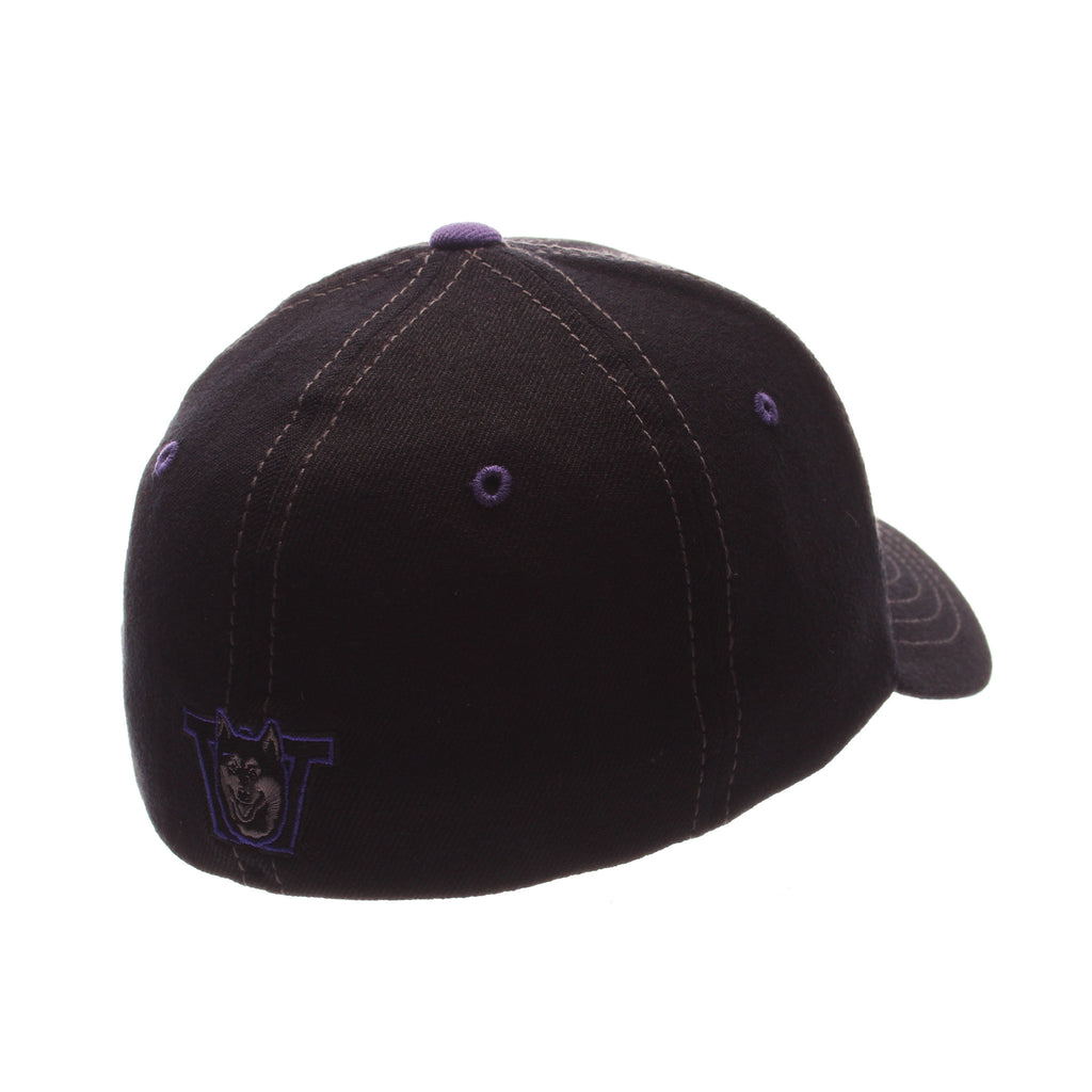 Washington Black Element Standard (Low) (W) Black Zwool Stretch Fit hats by Zephyr