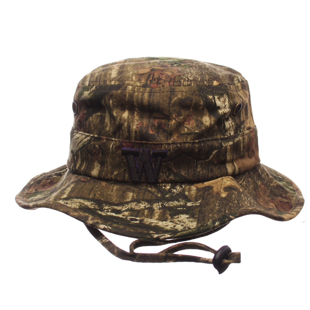 Washington Boonie Bucket(Low Profile) (W) Camo Infinity (Mossy Oak) Washed Stretch Fit hats by Zephyr