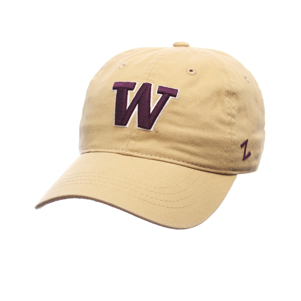 Washington Fitted Standard (Low) (W) Gold Vegas Washed Stretch Fit hats by Zephyr