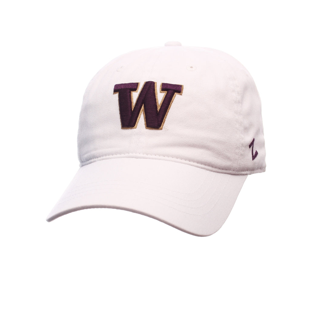 Washington Fitted Standard (Low) (W) White Washed Stretch Fit hats by Zephyr