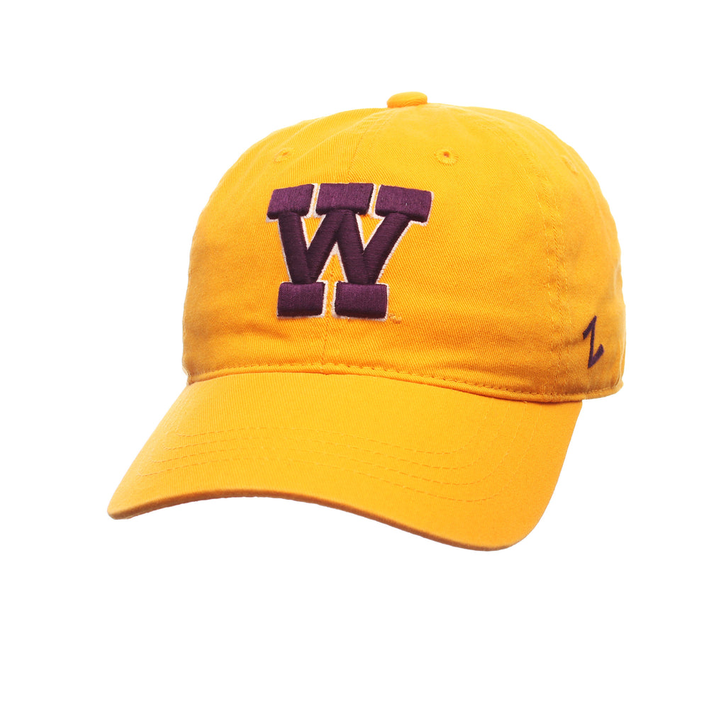 Washington Fitted Standard (Low) (VAULT W) Gold Washed Stretch Fit hats by Zephyr