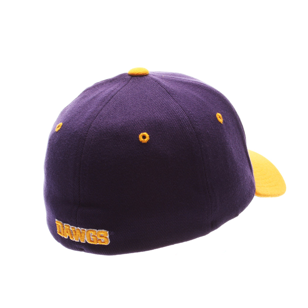 Washington Custom Zfit Standard (Low) (W W/ HUSKY) Purple Dark Zwool Stretch Fit hats by Zephyr