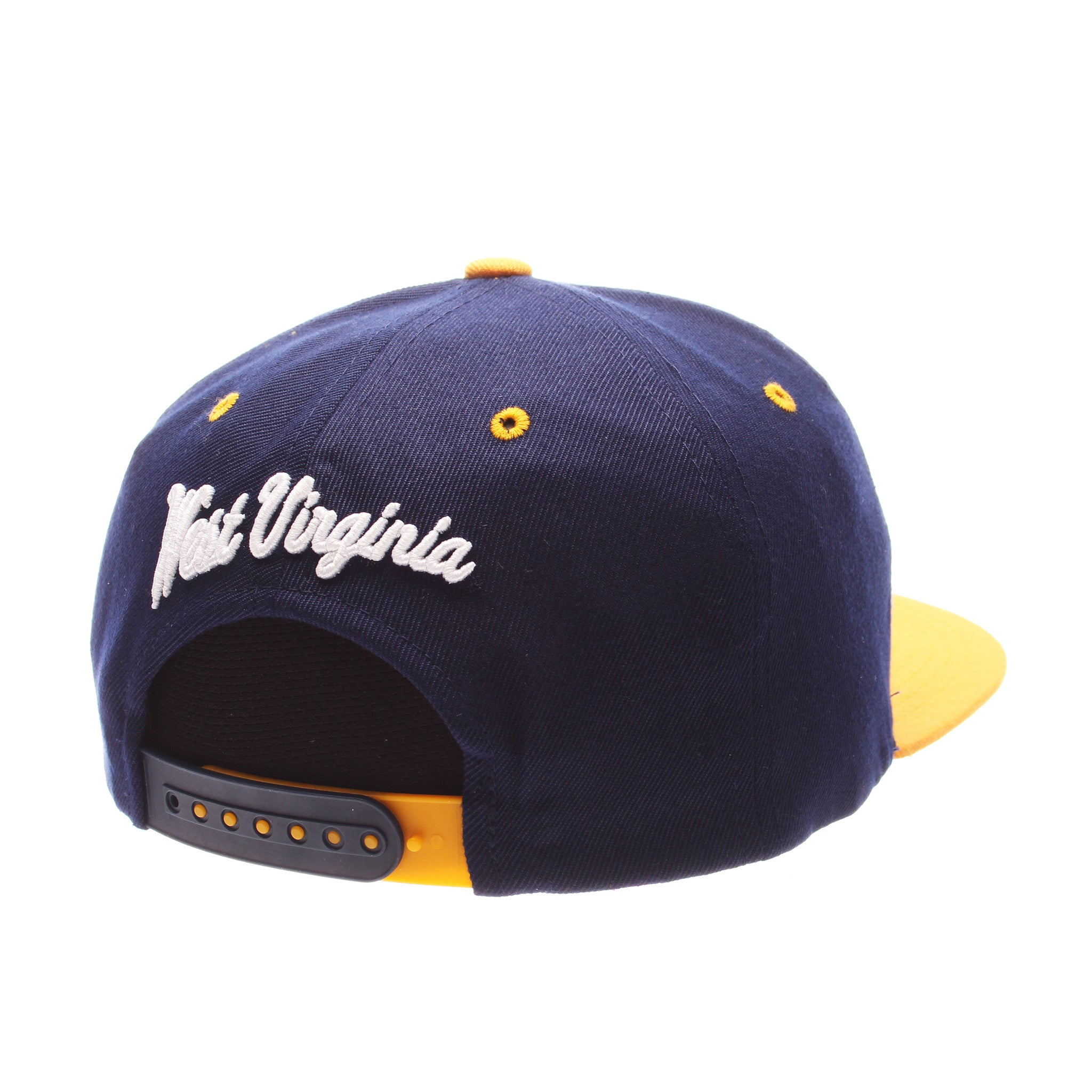 West Virginia Z11 32/5 (High) (WV) Navy Zwool Adjustable hats by Zephyr