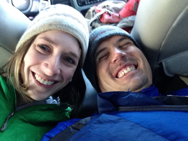 Jack-And-Amanda-Smile-While-Camping-In-Their-SUV