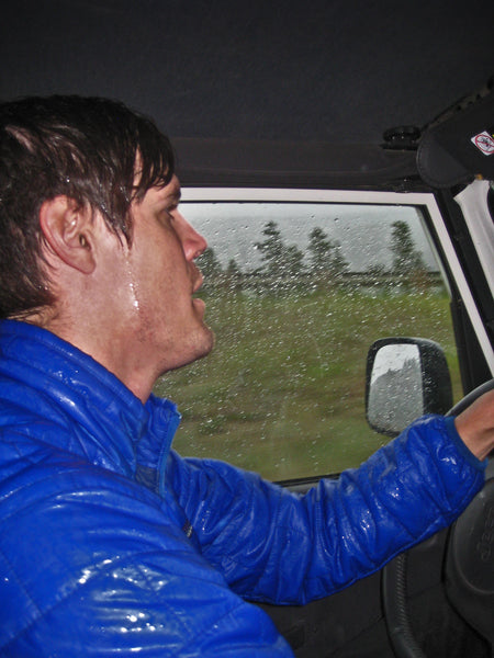 Jack-Drives-While-Soaked-After-Getting-Caught-In-The-Rain-After-A-Climb