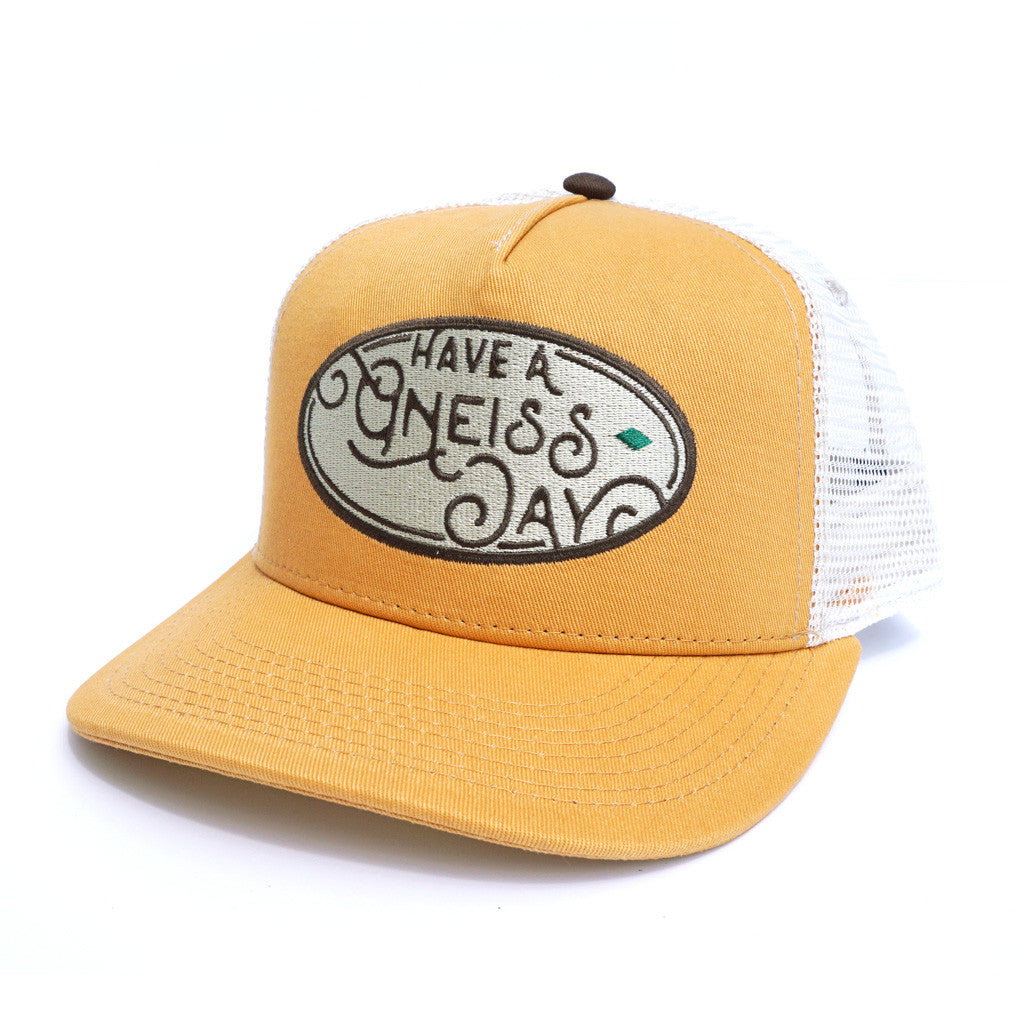Have A Gneiss Day Hat - Vintage Yellow