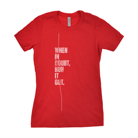 Women's Run It Out Tee - Red