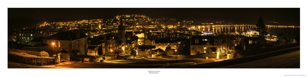 Rothesay panorama (night) from the top of The Serpentine