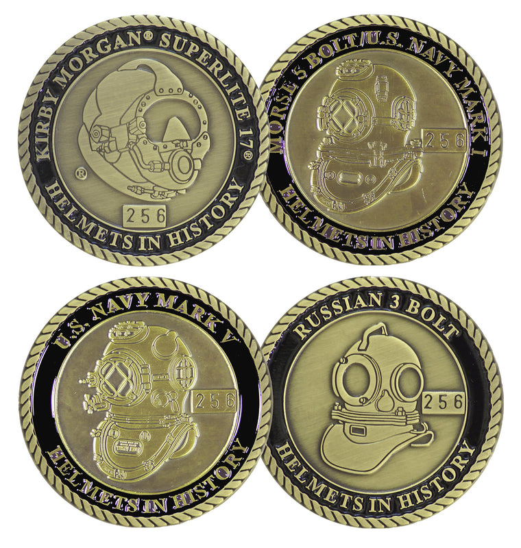 Complete Series Set # 2 Helmets in History Challenge Coin Set (4 Coins)