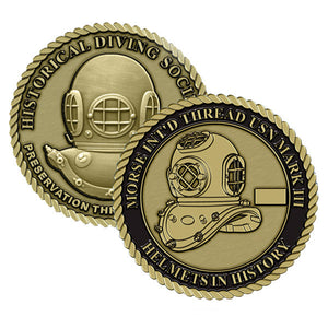 Morse Int'd Thread USN Mark III Helmets in History Challenge Coin (Series Set #3)