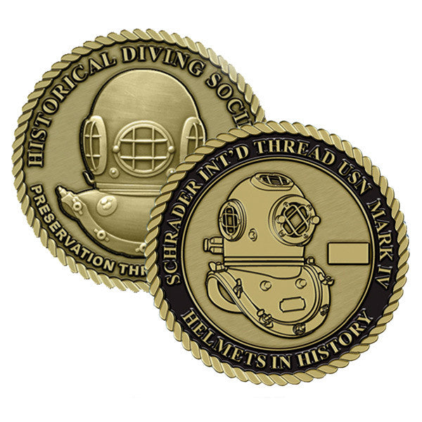 Schrader Int'd Thread USN Mark IV Helmets in History Challenge Coin (Series Set # 3)
