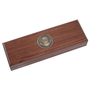 Custom Walnut Display Box for 4 Coins (Without Coins)