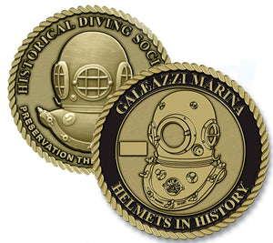 Galeazzi Marina Helmets in History Challenge Coin (Series Set # 1)