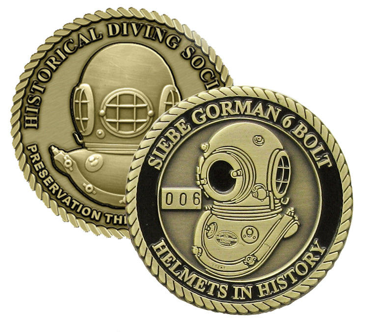 Siebe Gorman 6 Bolt Helmets in History Challenge Coin (Series Set # 1)