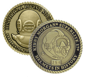 Kirby Morgan Superlite 17 Helmets in History Challenge Coin (Series Set # 2)