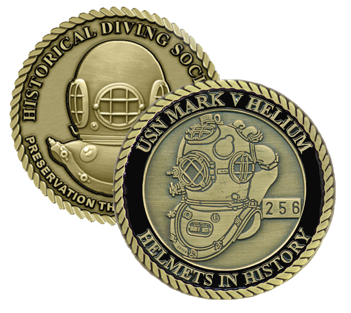 US Navy Mark V Helium Helmets in History Challenge Coin (Series Set # 1)