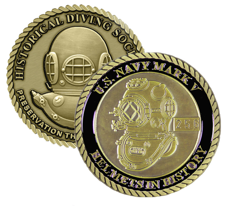 US Navy Mark V Helmets in History Challenge Coin  (Series Set # 2)
