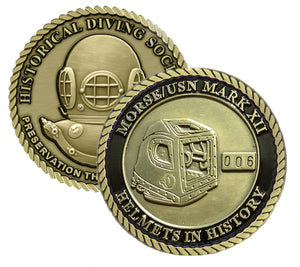 Morse/USN Mark XII Helmets in History Challenge Coin  (Series Set #3)