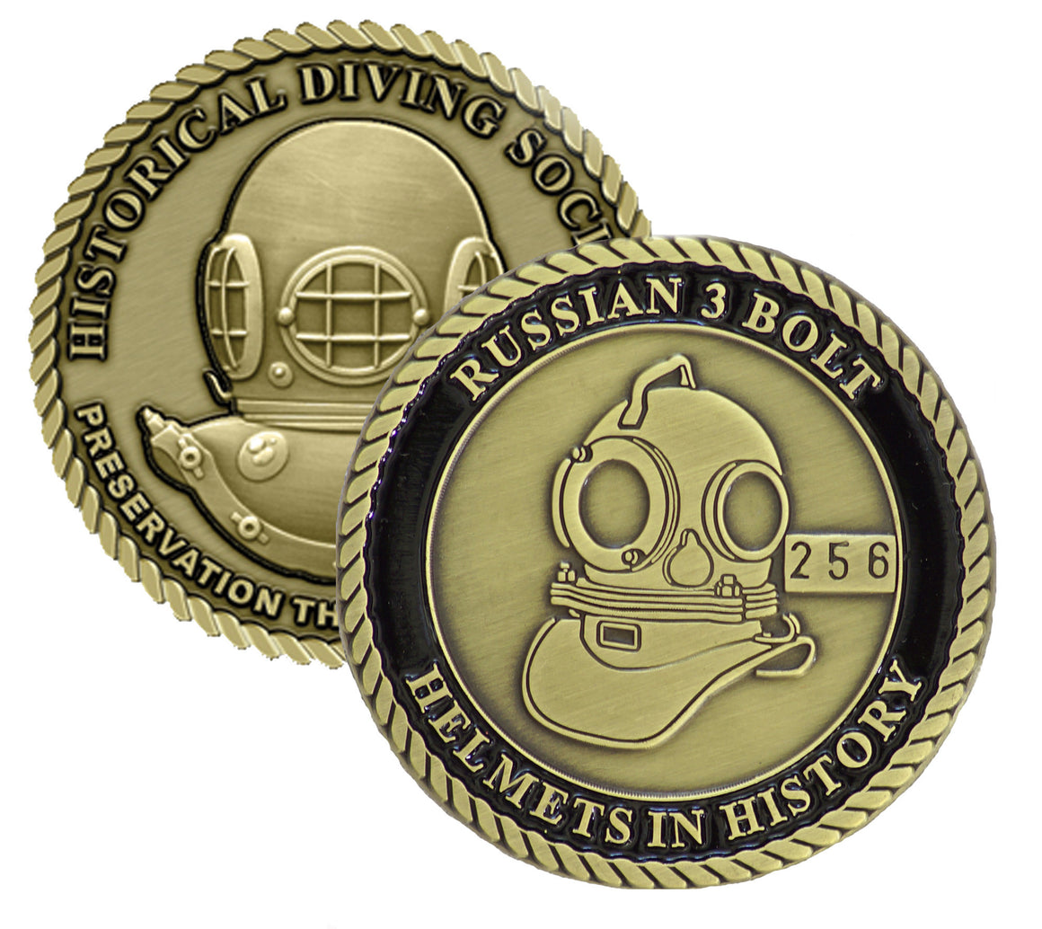 Russian 3 Bolt Helmets in History Challenge Coin (Series Set # 2)