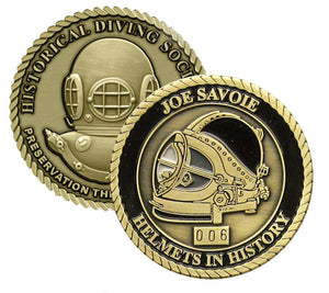 Joe Savoie Helmets in History Challenge Coin (Series Set # 1)