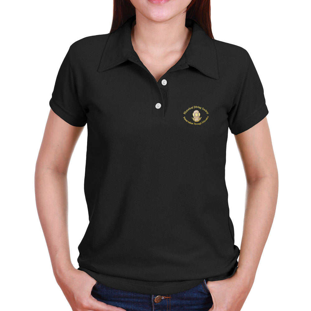 a6c2feb3 HDS Women's Polo Shirt - The Historical Diving Society