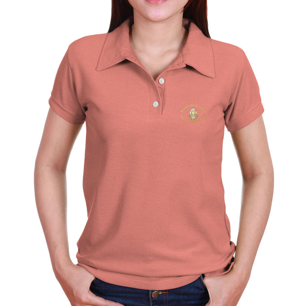 Hds women 39 s polo shirt the historical diving society for Woman s polo shirts